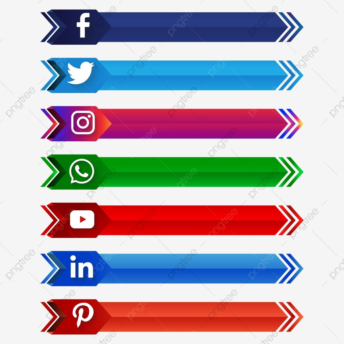 Social Media Banner Tags Set Png Social Media Clipart Social Media Text Buttons Social Media Buttons Png And Vector With Transparent Background For Free Down Social Media Banner Social Media Buttons