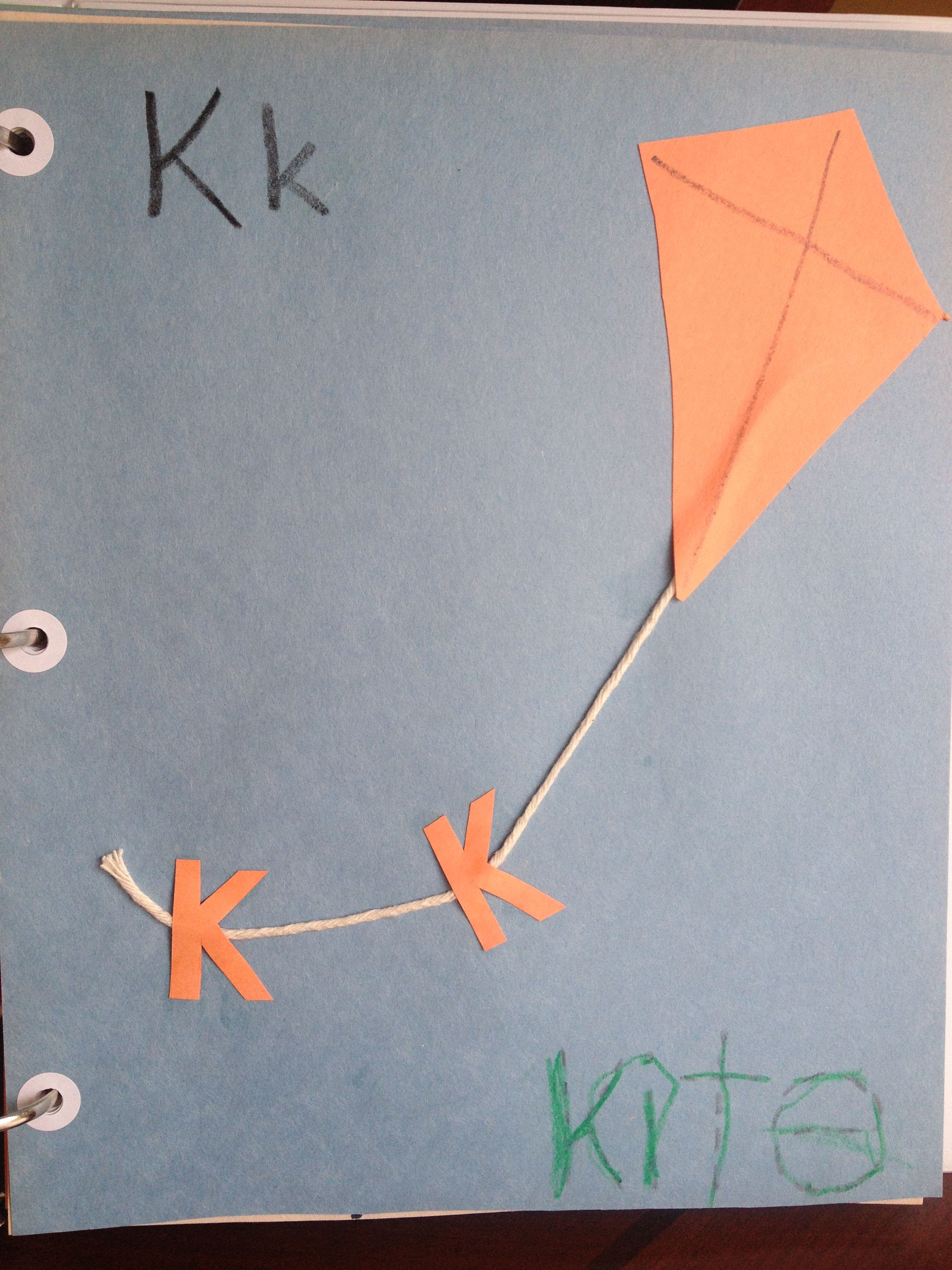 K is for kite Learning the alphabet, Crafts, Lettering