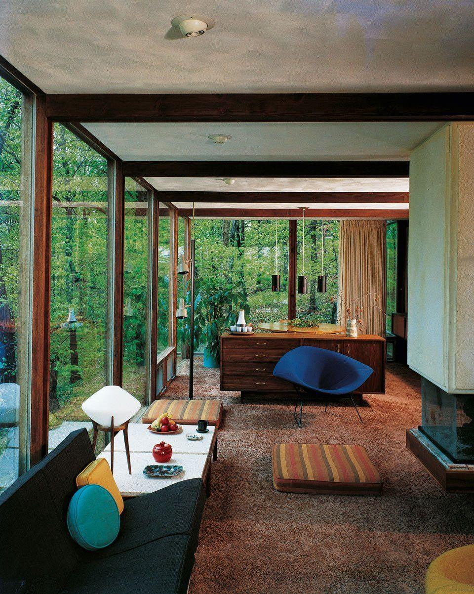 Philip Johnson Glass House Mid Century Modern House Mid Century