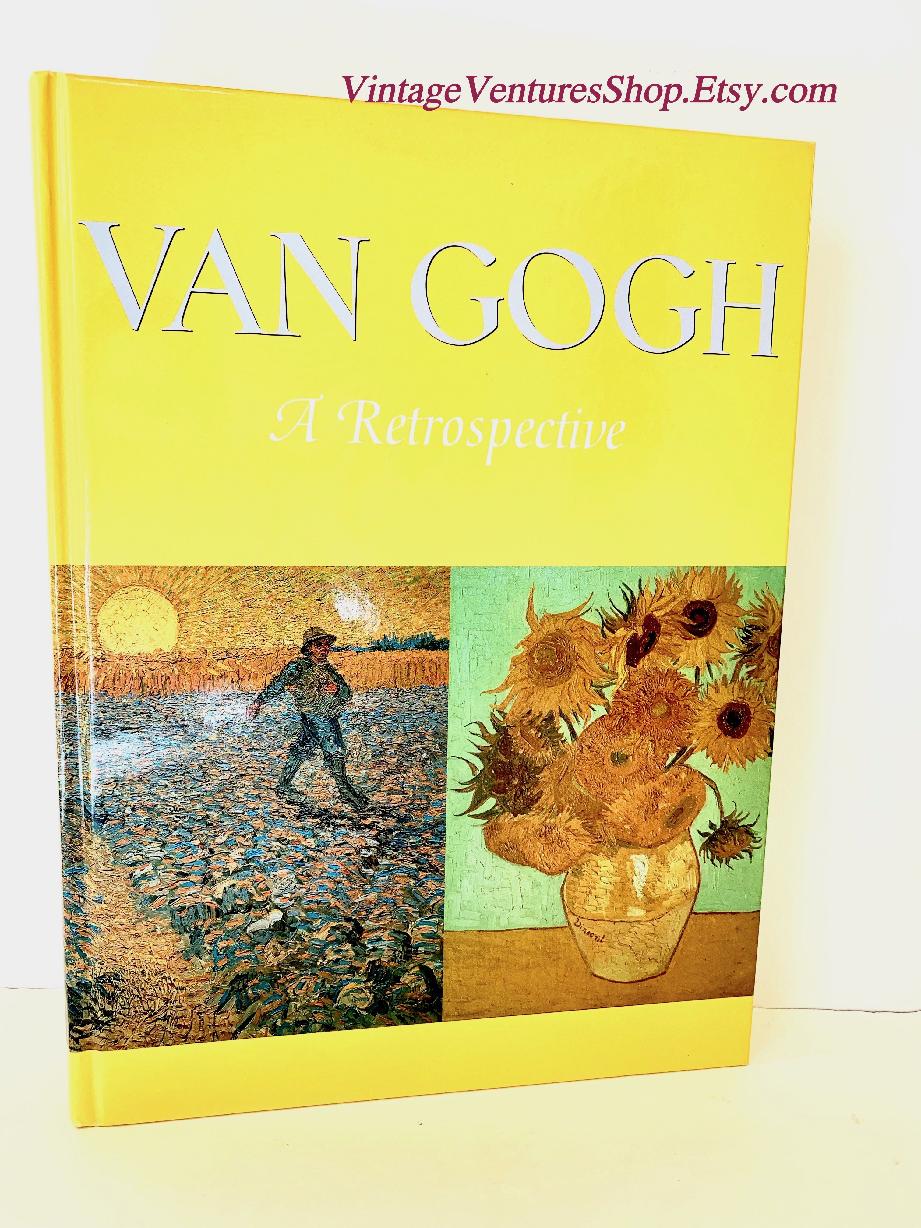 Van Gogh A Retrospective 1986 Vintage Book Art History Coffee