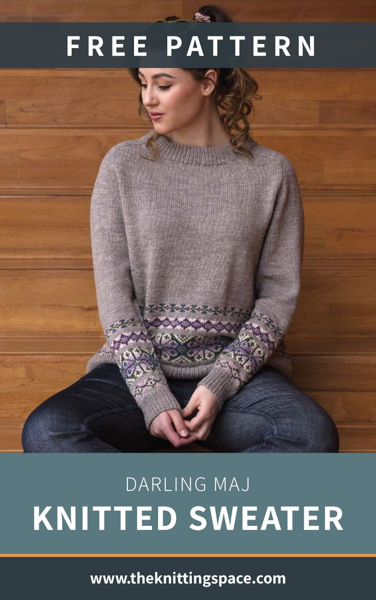 Darling Maj Knitted Sweater [FREE Knitting Pattern]