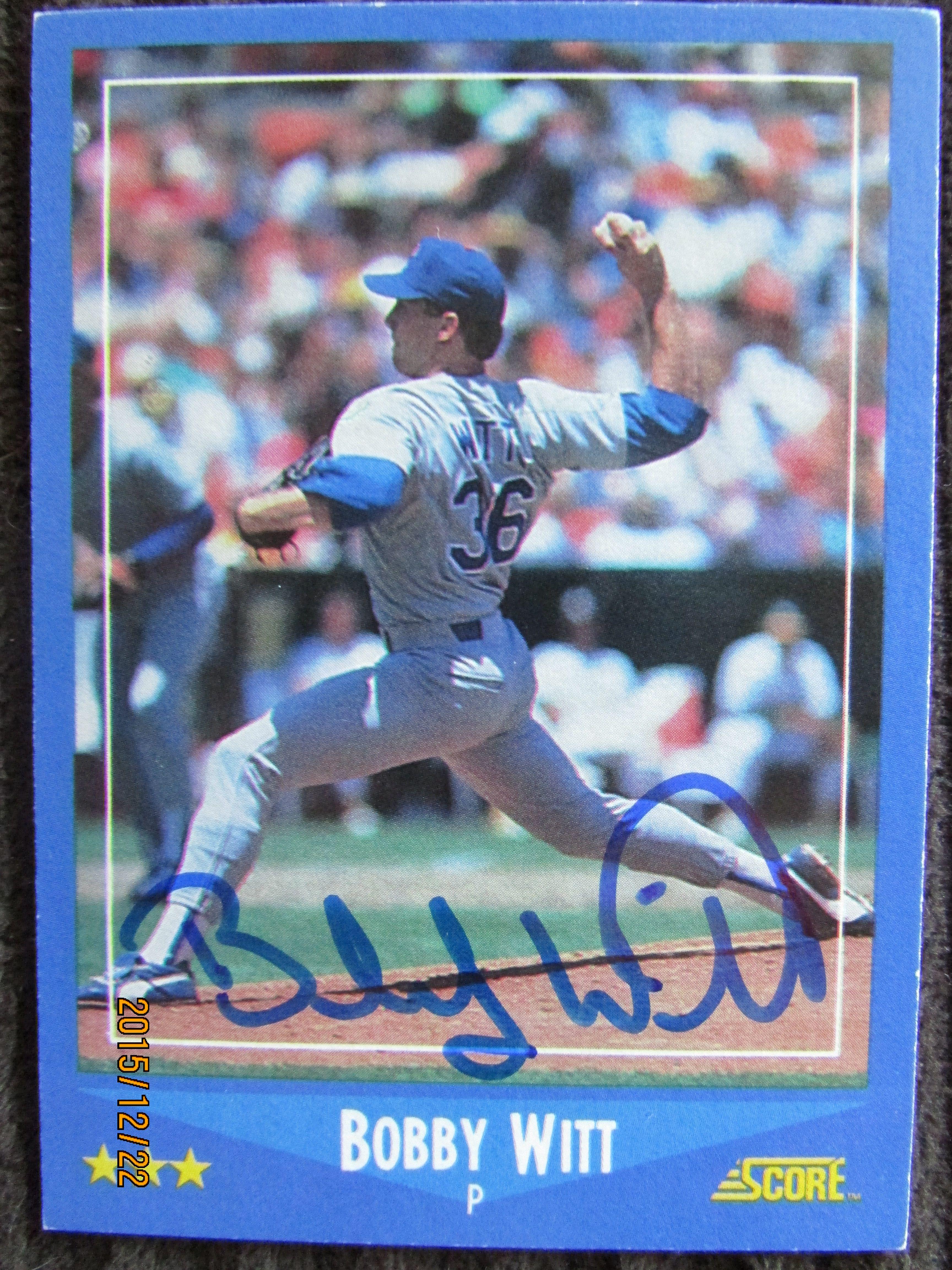 1988 Score 149 Bobby Witt Ttm 1988 Score Set Autographs