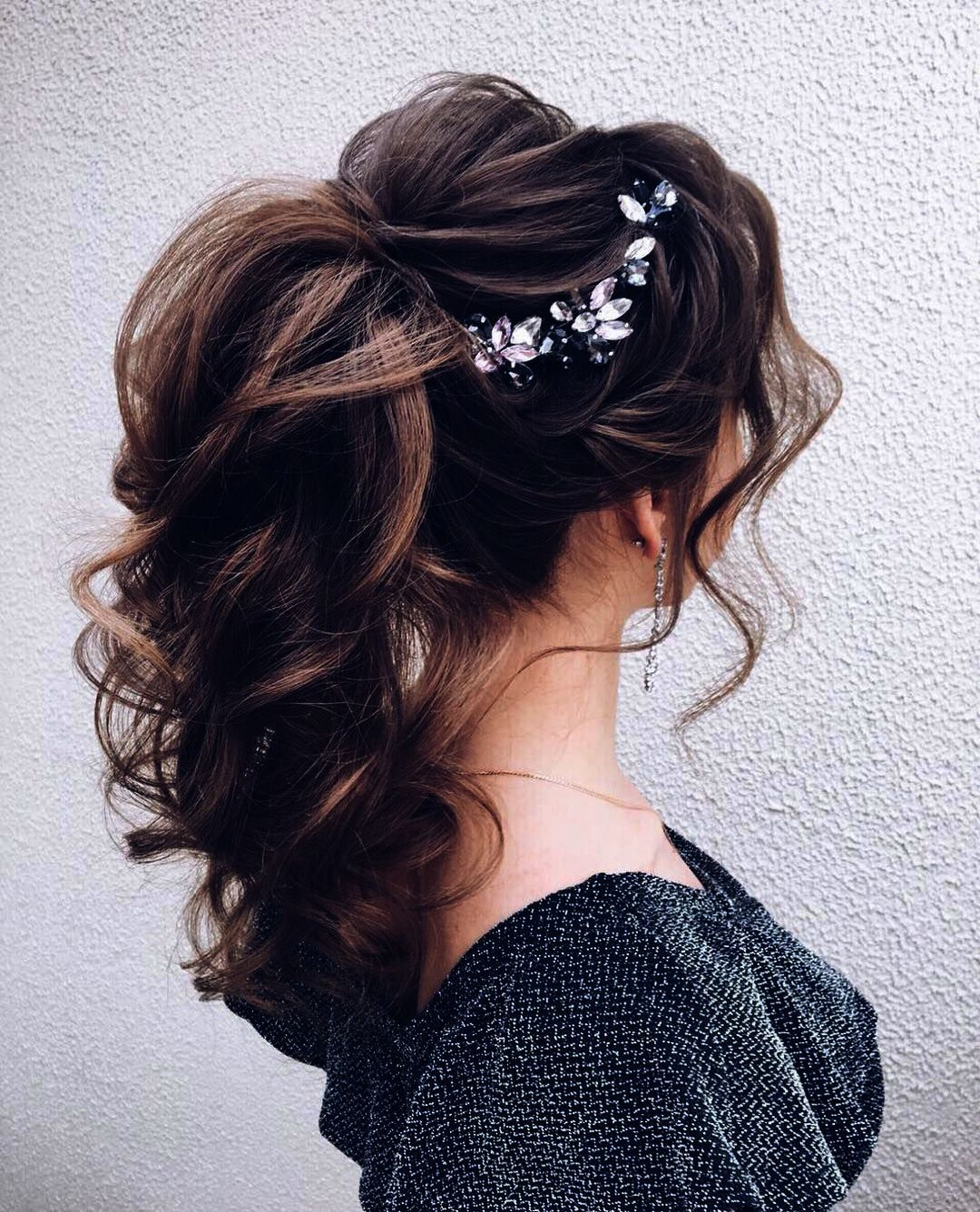 Wedding Rings Pinterest long Wedding Updos For Long Thick ...