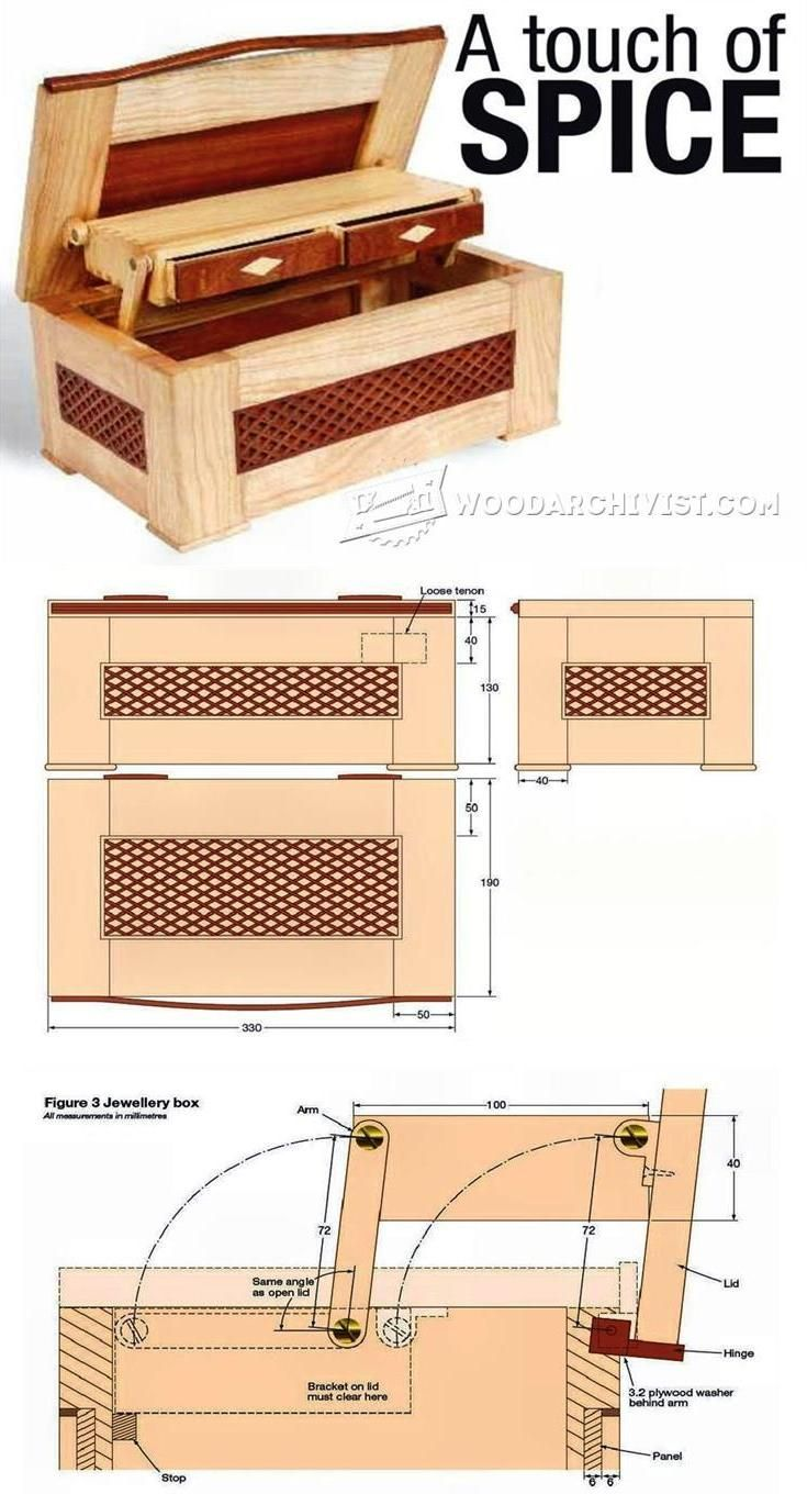 Jewellery Box Plan Woodworking Plans And Projects Woodarchivist Com Jewelry Box Plans Woodworking Furniture Plans Simple Woodworking Plans