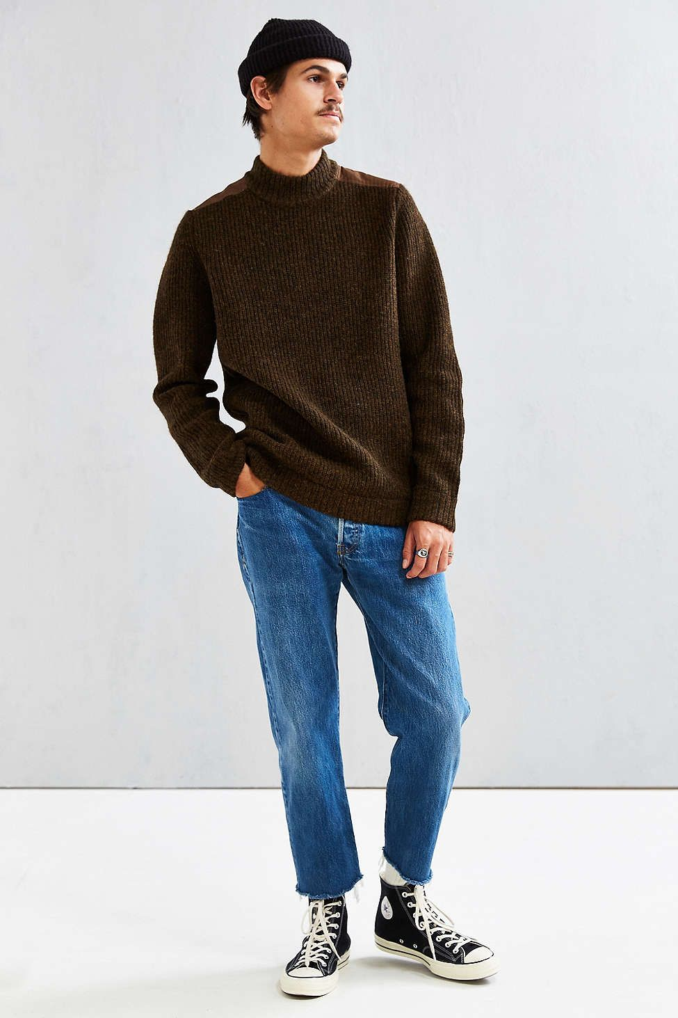 Stussy Mock Neck Military Sweater , Urban Outfitters