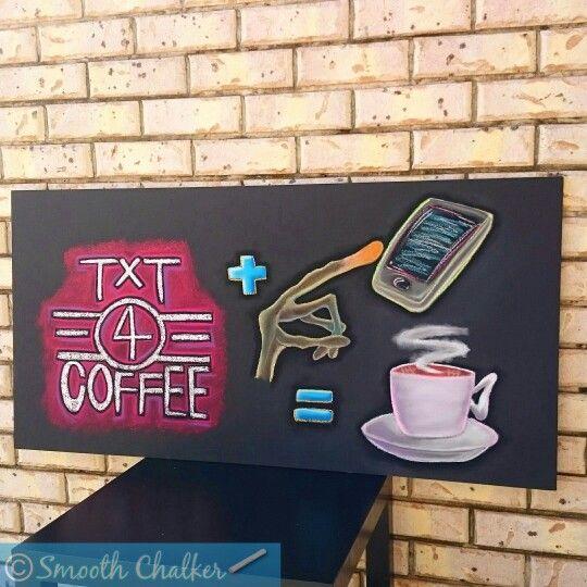 Coffee shop promo board - TXT4COFFEE