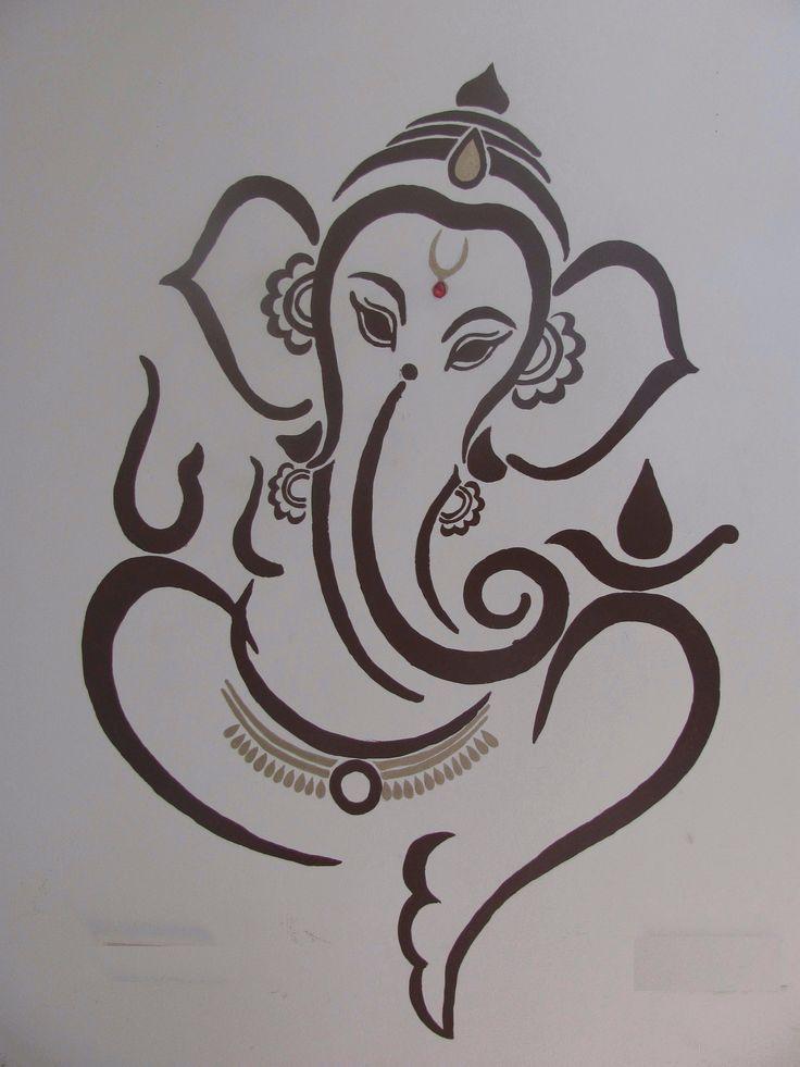 Stencil De Ganesha Buscar Con Google Ganesha Drawing Hindu Art Patterns Lord Ganesha Paintings