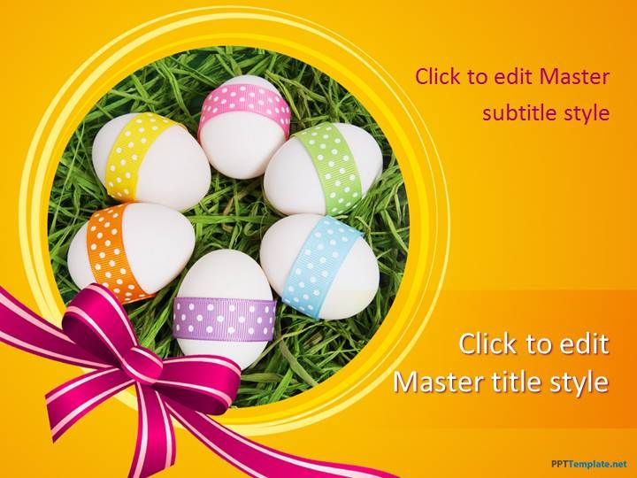 Free_PowerPoint_Slide_Design with colorful eggs in circle is - easter powerpoint template
