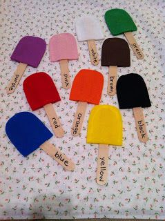 All it takes is Balance: Popsicle Color Words
