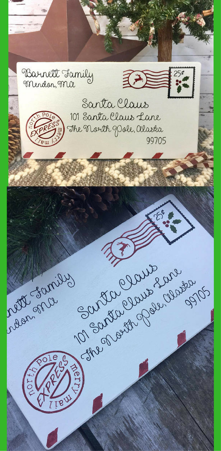 Cute large personalized letter to santa wood ad lettertosanta cute large personalized letter to santa wood ad lettertosanta personalized sign christmas holiday santa northpole farmhouse spiritdancerdesigns Images