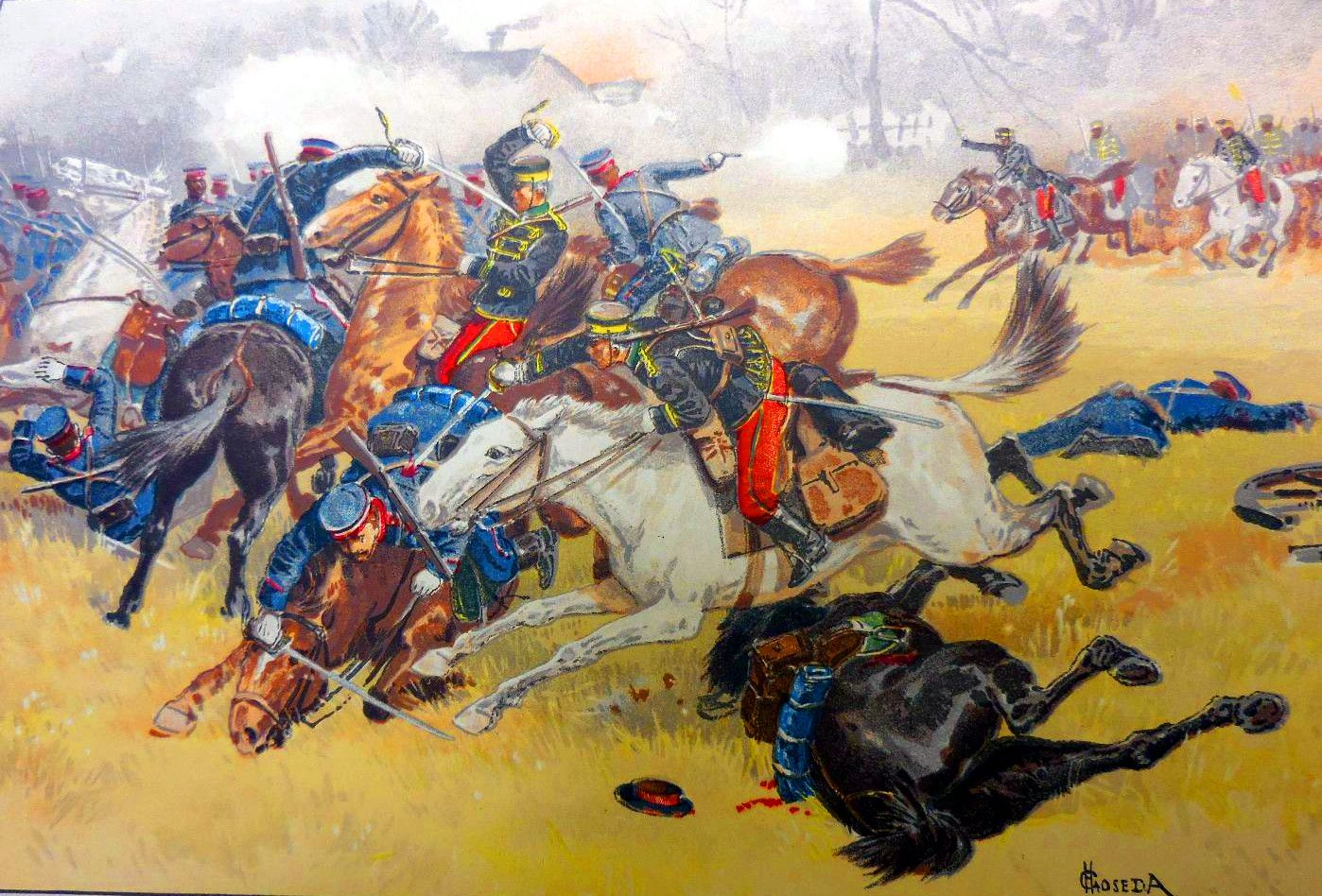 Fierce Battle Between Russian And Japanese Cavalry