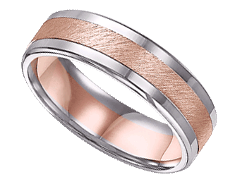 Mens Two Tone White And Rose Gold Band Is Perfect For Your 2015 Wedding
