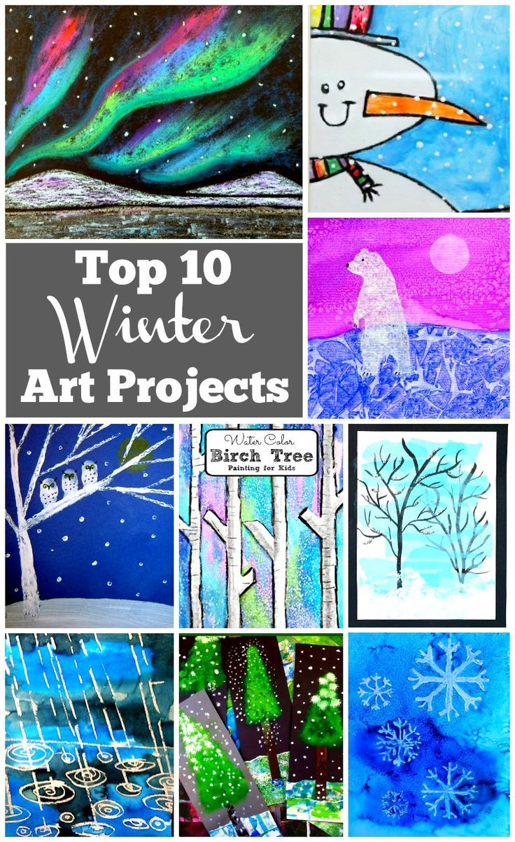 Artists of all ages will be able to find a winter art project in this  collection