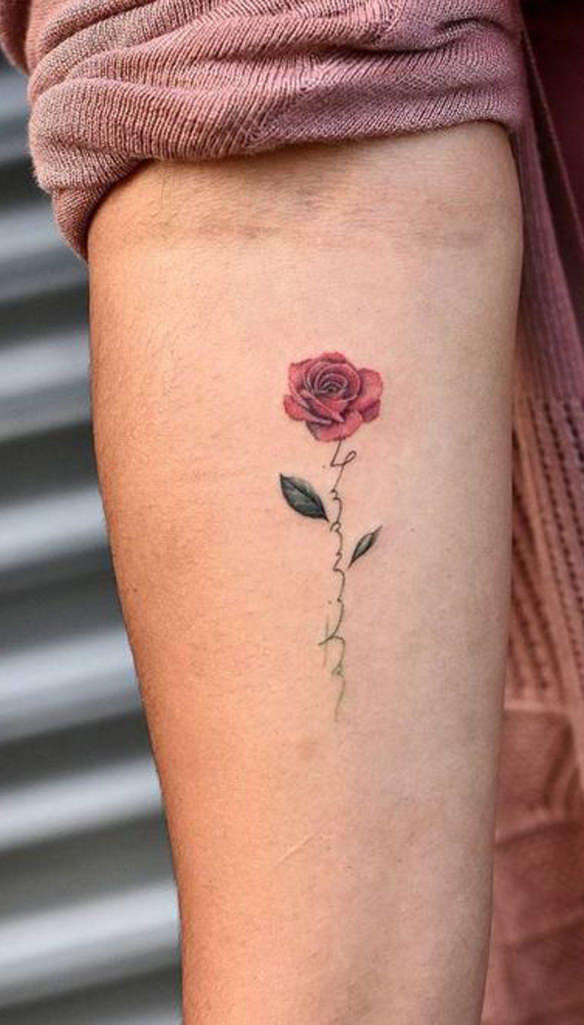 Small Watercolor Delicate Rose Tattoo Ideas For Women Single Flower Forearm Tat Www Mybodi Delicate Flower Tattoo Small Rose Tattoo Tattoos For Women Small
