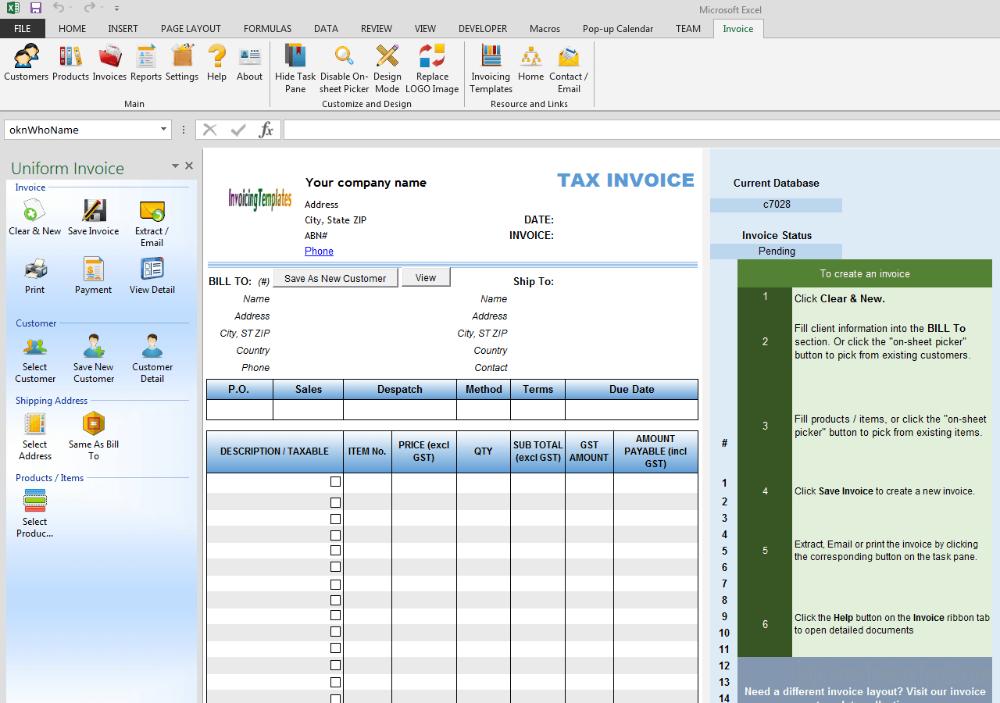 Australian Tax Invoice Template Word Doc Pdf Australia Excel Throughout Sample Tax Invoice Template Australia Invoice Template Invoice Template Word Word Doc