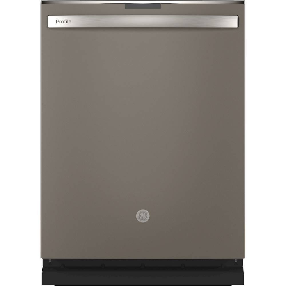 Ge Profile Series Top Control Built In Dishwasher With Stainless Steel Tub 3rd Rack 45dba Slate Pdt715smnes Best Buy Steel Tub Built In Dishwasher Stainless Steel Cleaning