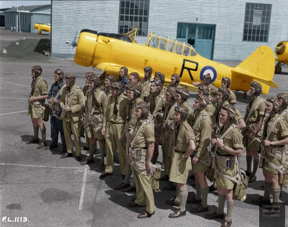 C student pilots of the royal canadian air force watch