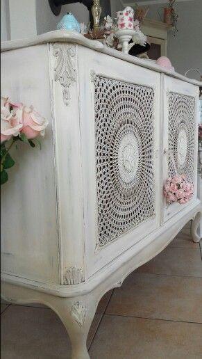 Eine wunderschöne Chippendale Kommode - Anrichte mit intaktem - chippendale wohnzimmer weis