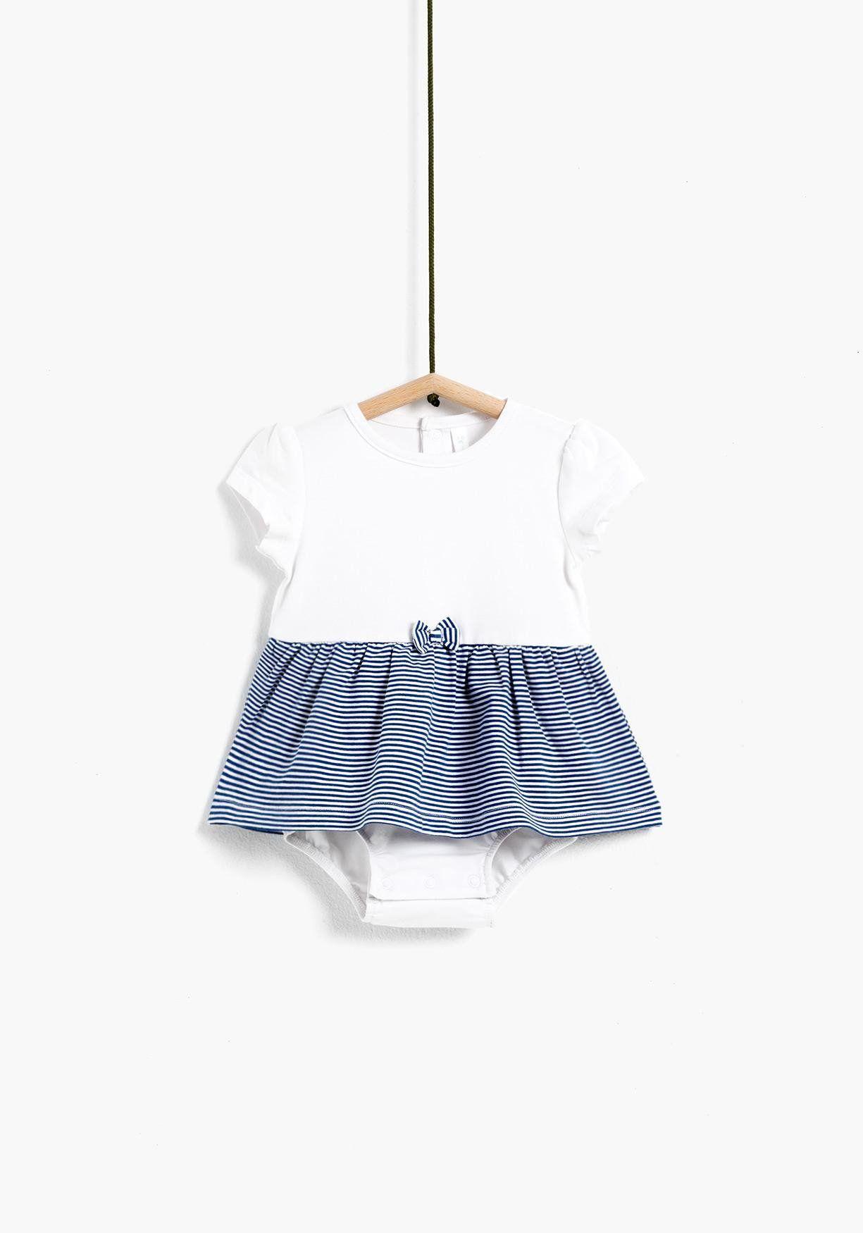 48c0a2d2c Body vestido de recién nacido para niña. Manga corta y cuello redondo.  Cierre trasero