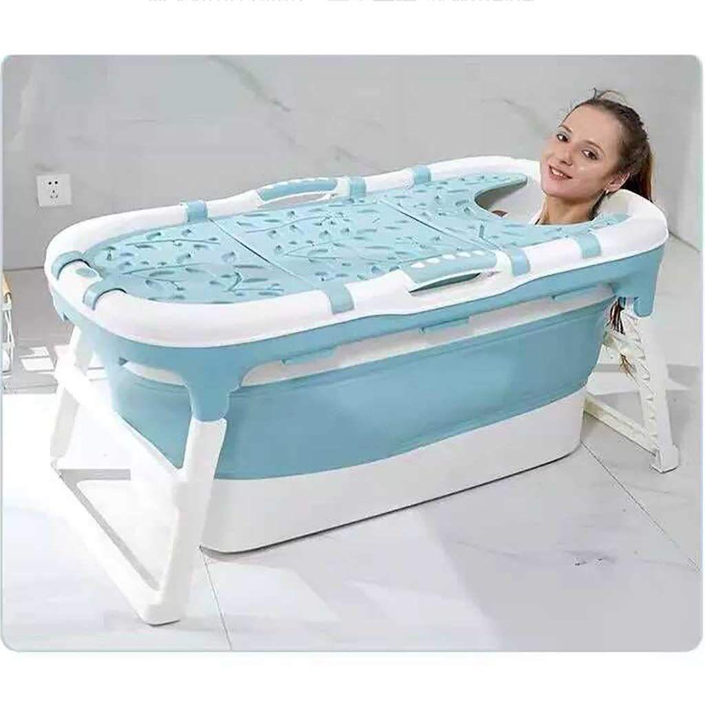 Tub Blaue Faltbare Grosse Badewanne Mit Abnehmbarem Bezug Tragbare Kinderbadewanne Dickes Kunststoffbadewanne Fur K In 2020 Grosse Badewanne Wanne Tragbare Badewanne