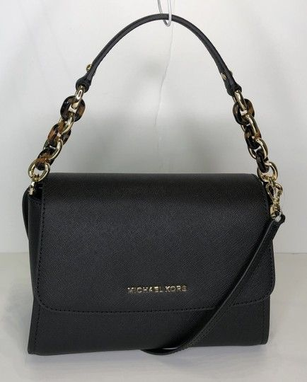 517f0bf85958 Save big on the Michael Kors Sofia Sm Black Leather Satchel! This satchel  is a top 10 member favorite on Tradesy.