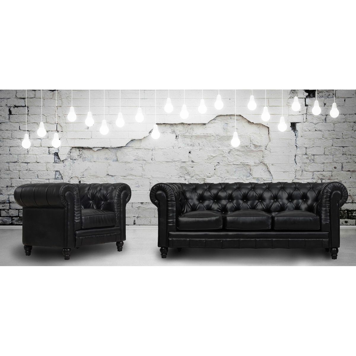 TOV Furniture Zahara Black Leather Living Room Set TOV-S24-B-SET ...
