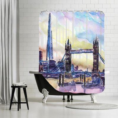 Brayden Studio Markus Bleichner Lyles London England The Shard And Tower Bridge 2 Shower Curtain Einrichtungsideen Home Decor Bettwäsche