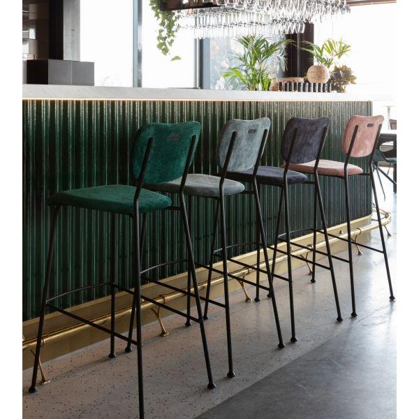 Tabouret de bar benson zuiver en 2020 tabouret de bar - Table de cuisine haute avec tabouret ...
