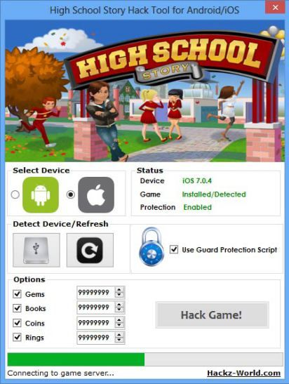 download high school story hacked version