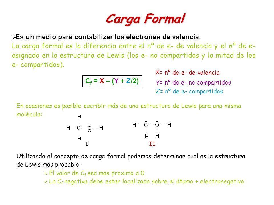 Resultado De Imagen De Diagrama De Lewis Carga Formal