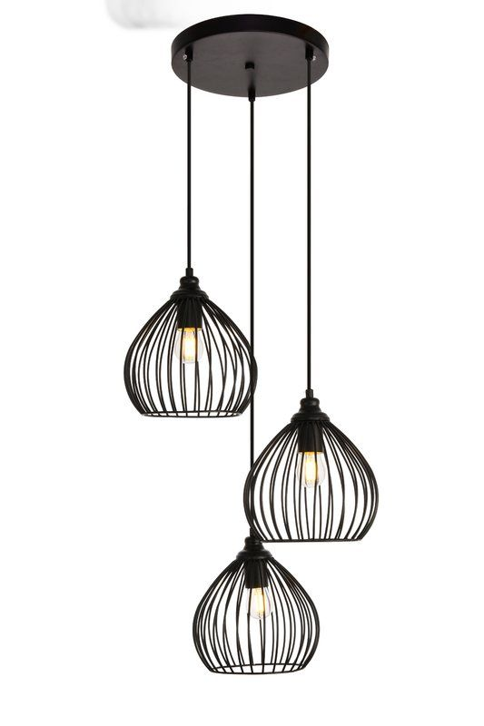Mullin 3 Light Cluster Teardrop Pendant In 2020 Pendant Lighting Black Pendant Light Pendant Track Lighting