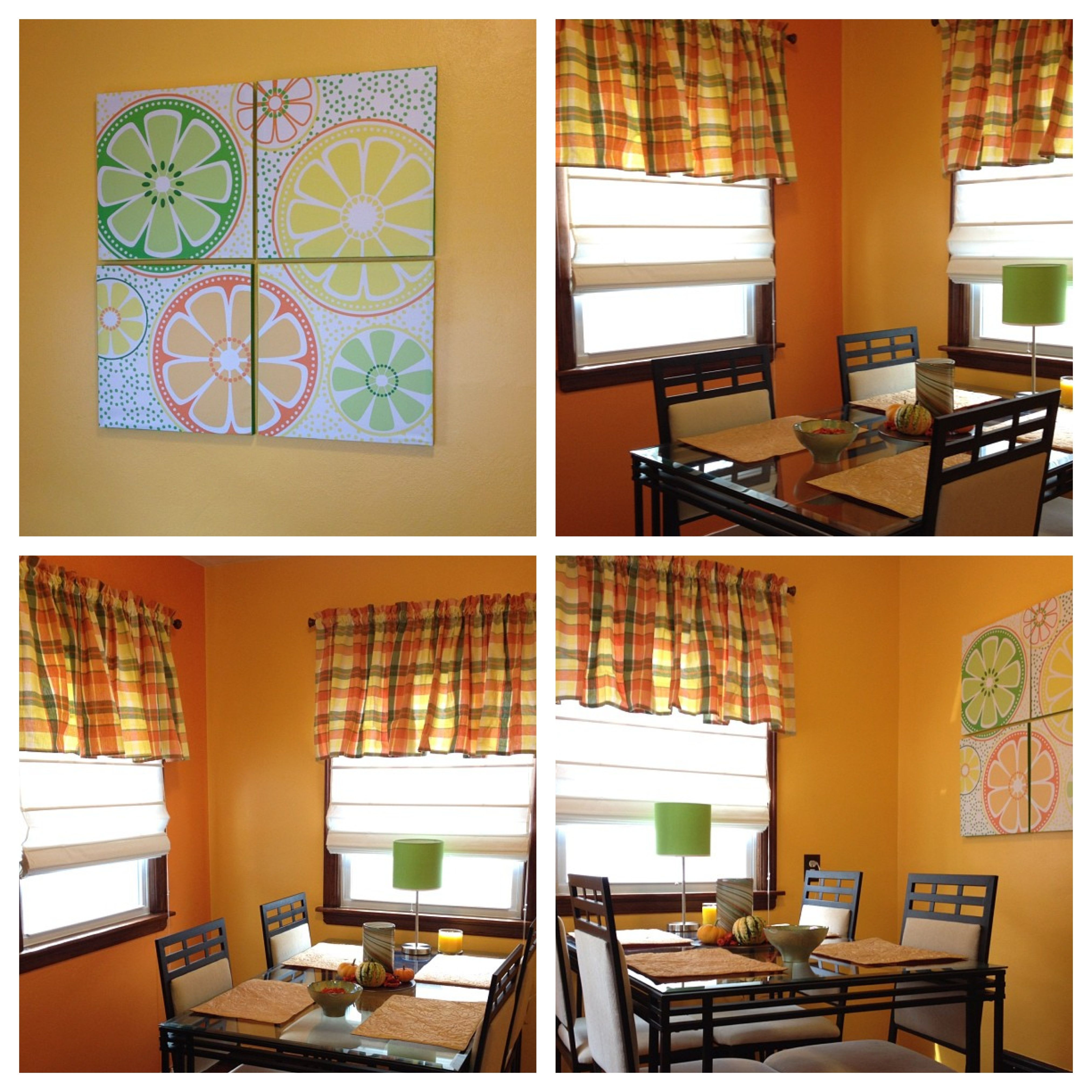 My Current Citrus Theme Colored Dining Room Valspar Paint Colors Orange Toffee And