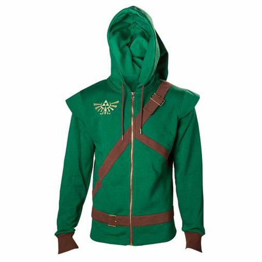 Zelda Link Novelty Mens Hooded Sweater Green