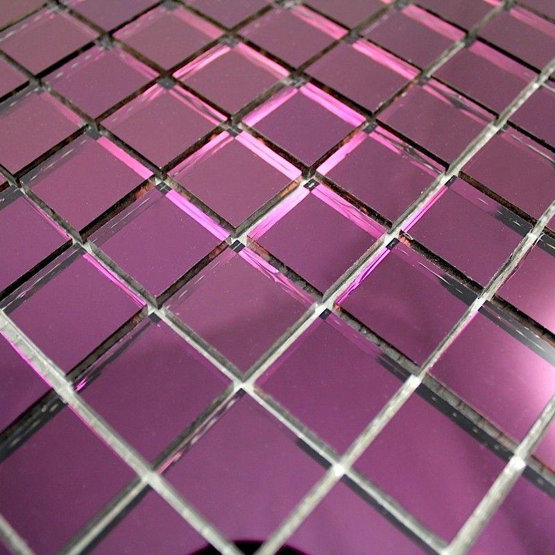 carrelage miroir mural salledebain reflect violet 9 90 surface m2 0 09 couleur violet. Black Bedroom Furniture Sets. Home Design Ideas