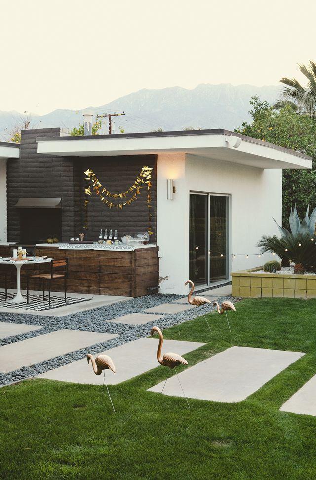 Sarah Sherman Samuel S Bday At Casa Verona Modern Backyard Design Modern Backyard Mid Century Modern Backyard