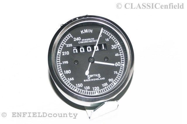 Replica Smiths Speedo Speedometer 240 Kph Enfield Bsa Norton