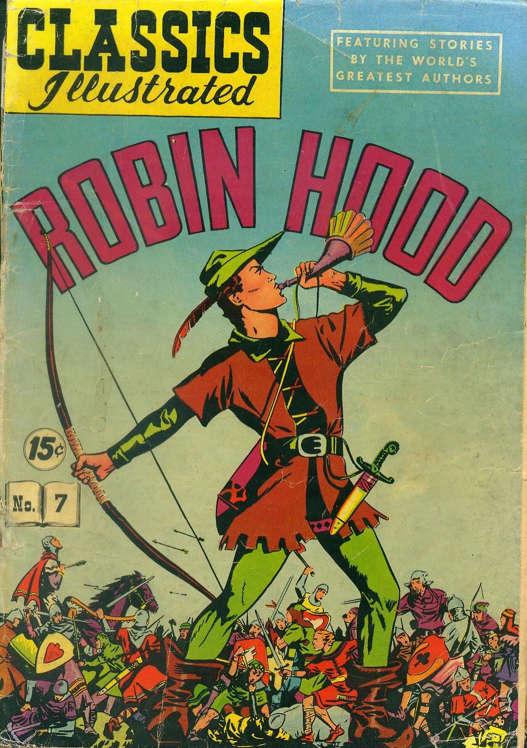 robin hood picture  classics illustrated  robin hood