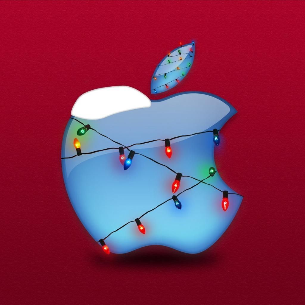Christmas Lights Apple iPad Wallpaper Apple logo