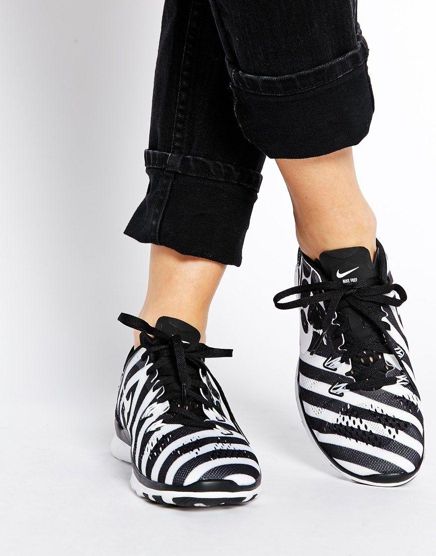 Nike Free Tr 5 Impression Noir Et Blanc