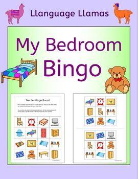 Bedroom Bingo For Efl Esl Eal Mfl Bingo Class Activities Listening Skills