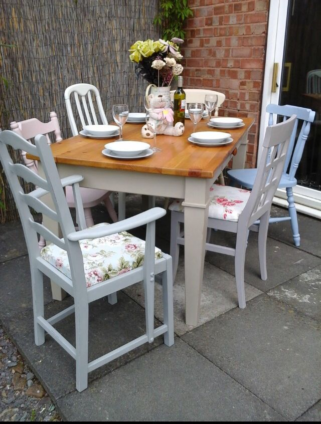 refurbished kitchen table ken onion knives mismatch chairs decorative house ideas
