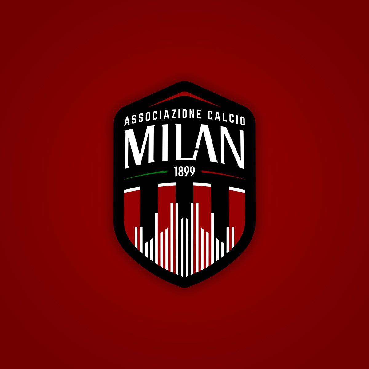 A C Milan Rebranded New Logo Jerseys On Behance Milan Wallpaper Milan Soccer Logo