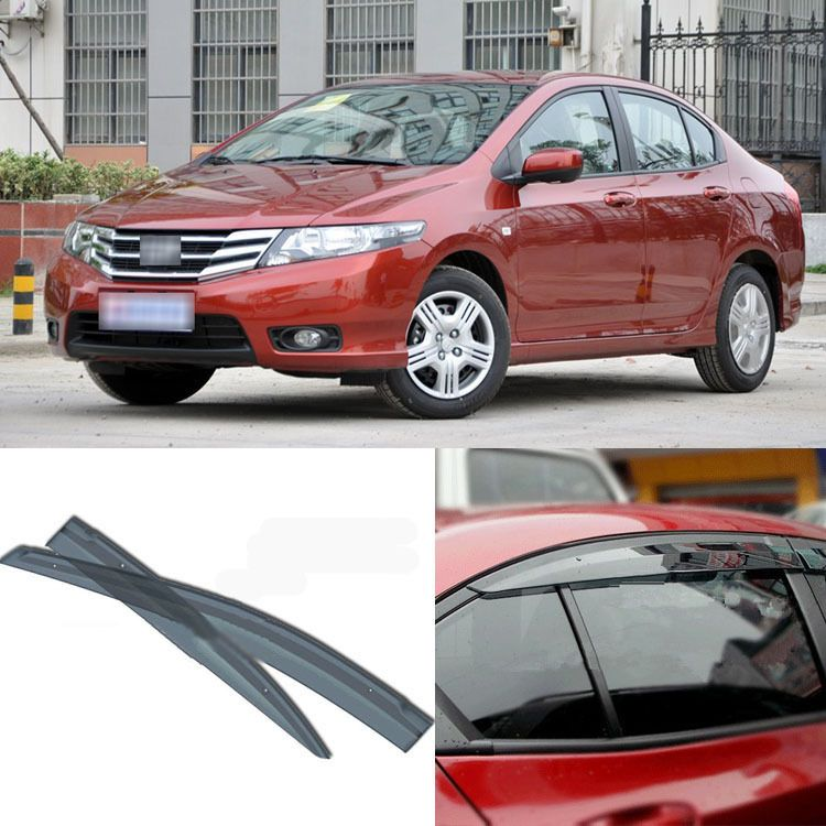 4pcs Blade Side Windows Deflectors Door Sun Visor Shield For Honda CITY 2008  2013