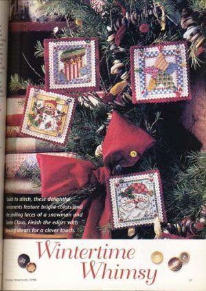 Better Homes and Gardens Christmas Ornaments Magazine 1998 - Wintertime Whimzy