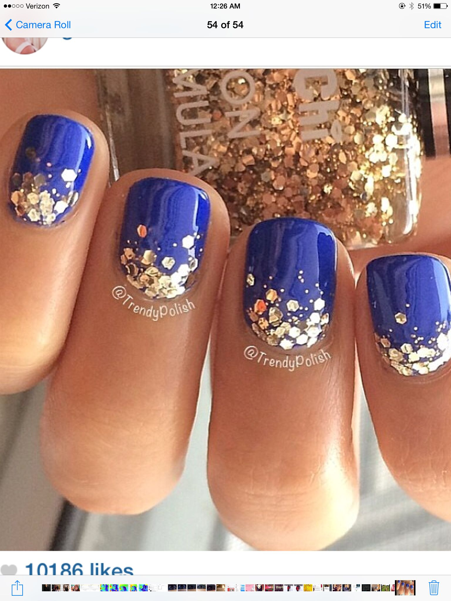 Blue with glitter | Nails | Pinterest | Beauty nails, Manicure and ...