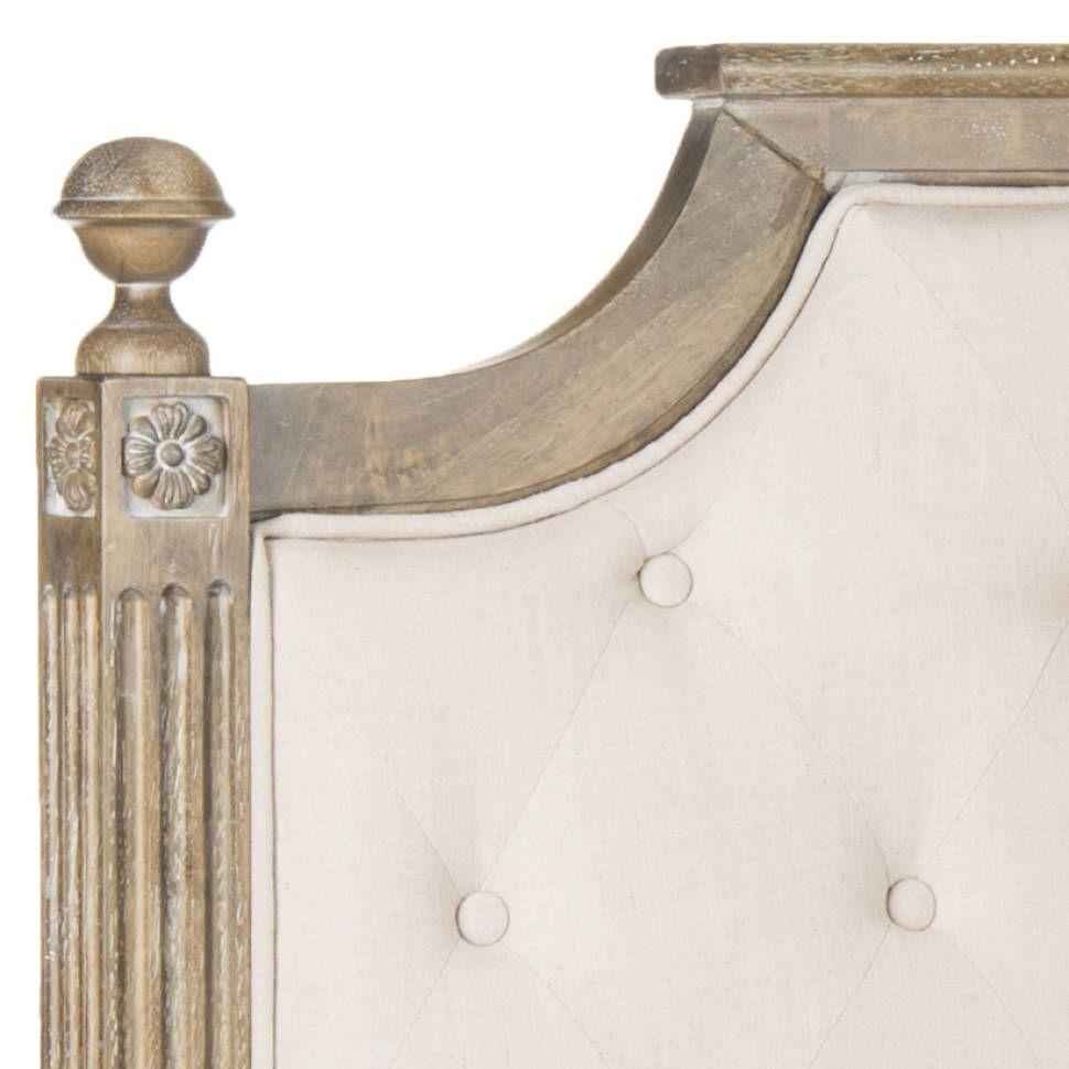Fleur Upholstered Panel Headboard | Linen headboard ...