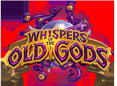 Whispers Of The Old Gods Card Sets Hearthstone Game Logo Game Logo Design Fantasy Logo