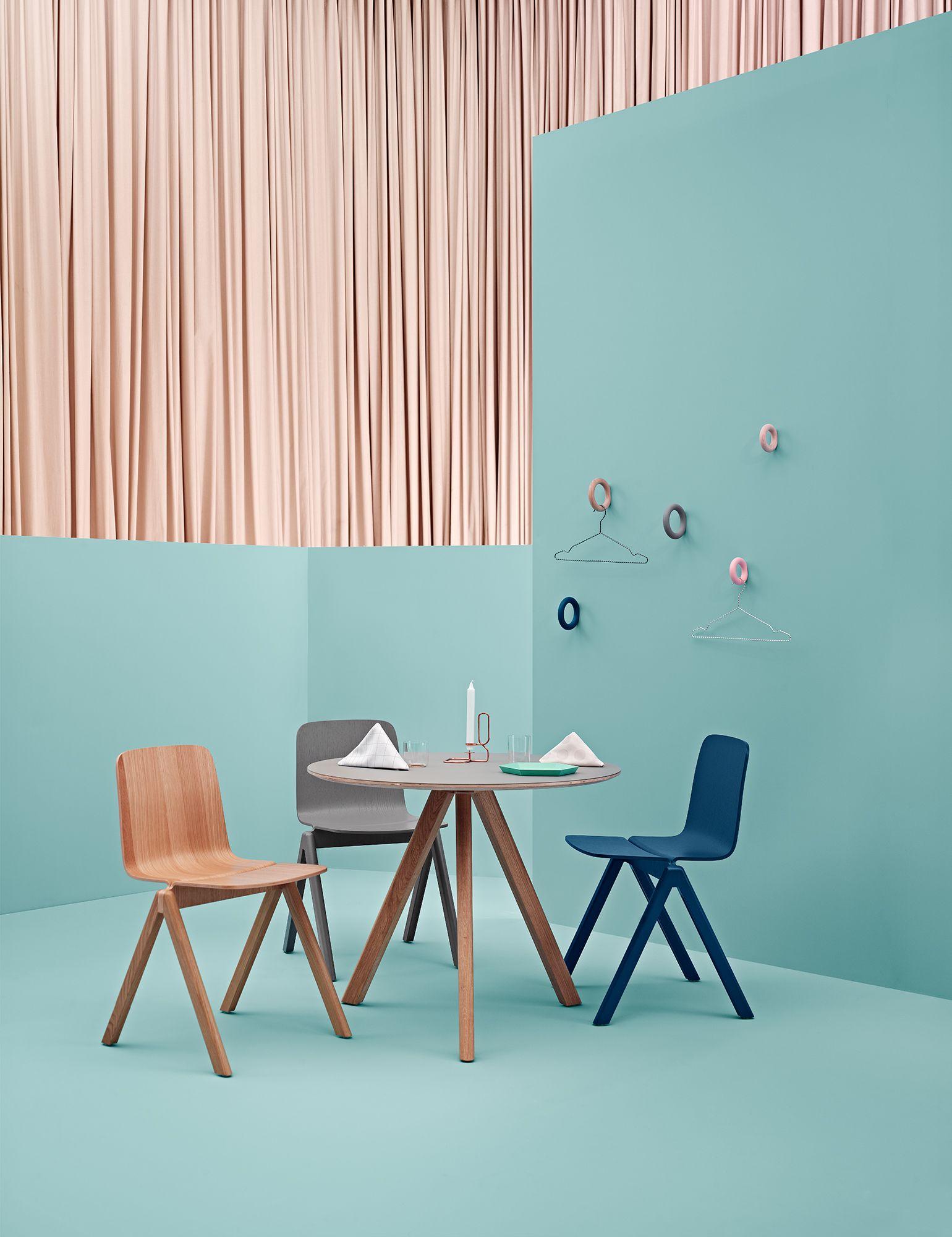 Chaise Copenhagen Bleu Chene Hay Design Home Interior Furniture Assise Siege Decoration Amenage Chaise Design Decoration Elegante Decoration Maison
