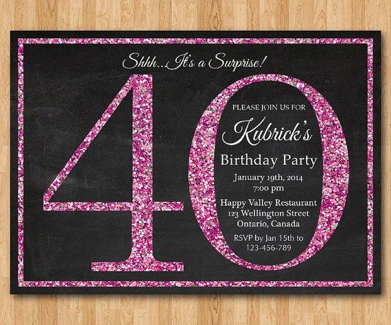40 O Invitación De Cumpleaños Para Las Mujeres Invitación
