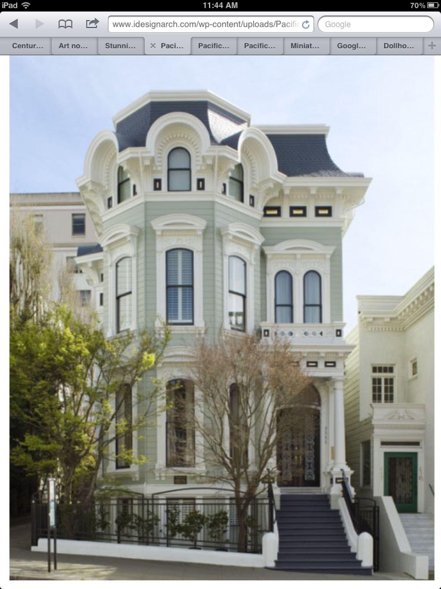 san francisco victorian hiuse exterior tim e maison. Black Bedroom Furniture Sets. Home Design Ideas